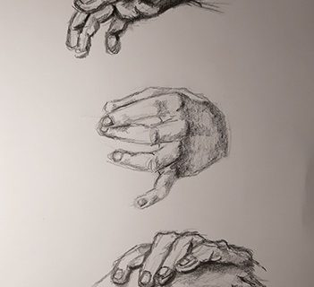 Kéz tanulmány rajzok
